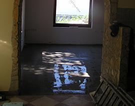 betonozás _nedves lakás